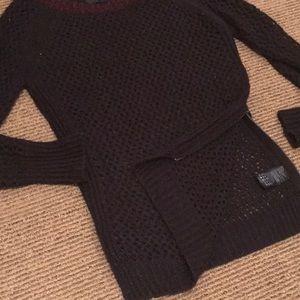 Maison Scotch (Designer) open knit sweater